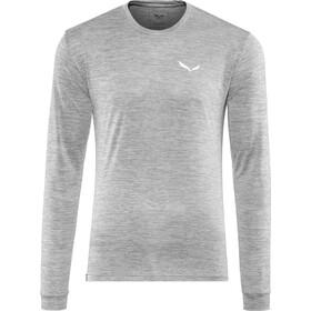 SALEWA Puez Melange Dry Longsleeve T-shirt Heren, quiet shade melange